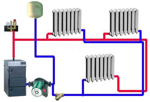 Монтаж отопление своими руками схема 56
