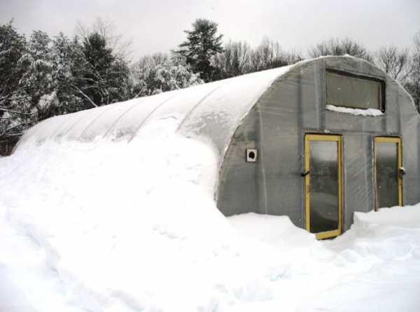 Какая температура в теплице зимой без отопления