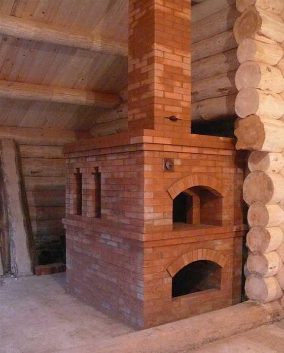 печью доме дерева