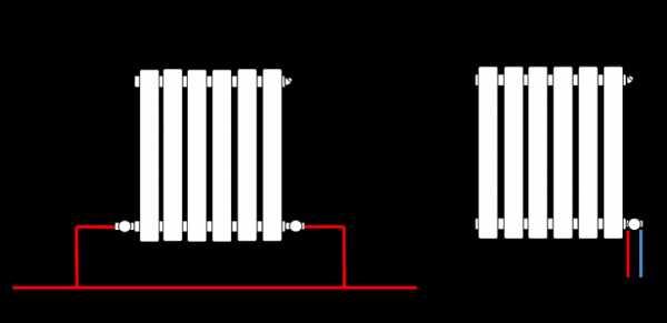 Схема водяного отопления двухэтажного дома и схемы разводки