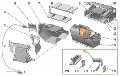 sistema otopleniya gazel biznes 4216 shema 35 - Устройство отопителя салона газель бизнес